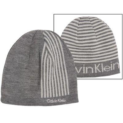 【Calvin Klein CK 】100% 全新正品 秋冬新品 CK LOGO 雙面可用 中性 毛帽 *CKH04*