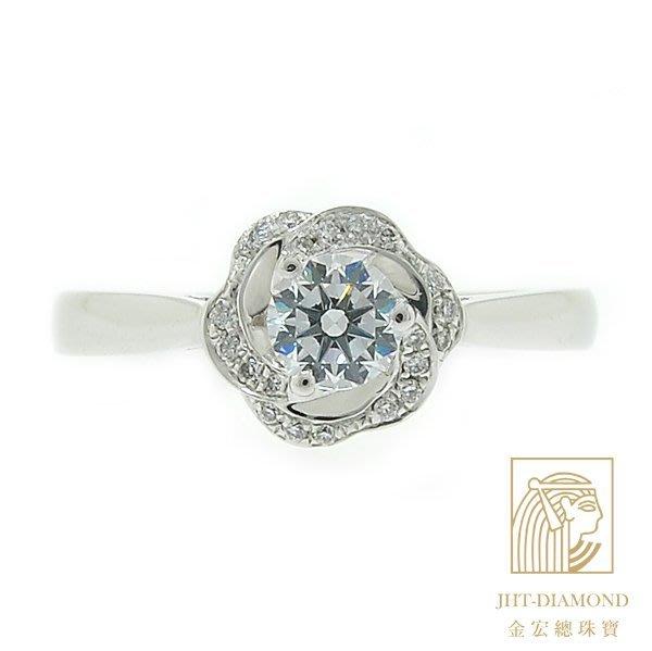 【JHT 金宏總珠寶/GIA專賣】婚戒/鑽戒 女鑽石戒台 (不含搭配主鑽)JRB027
