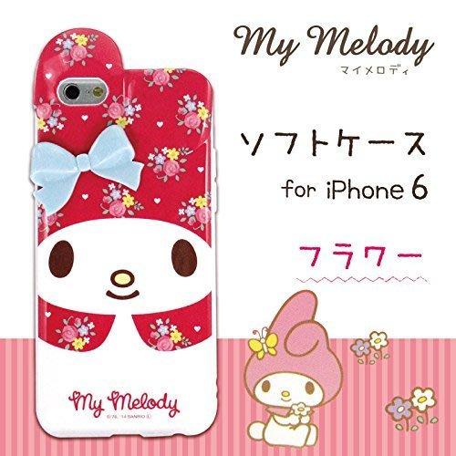 尼德斯Nydus~* 日本三麗鷗 My Melody 美樂蒂 手機殼 軟殼 桃紅小花 iPhone6 4.7吋