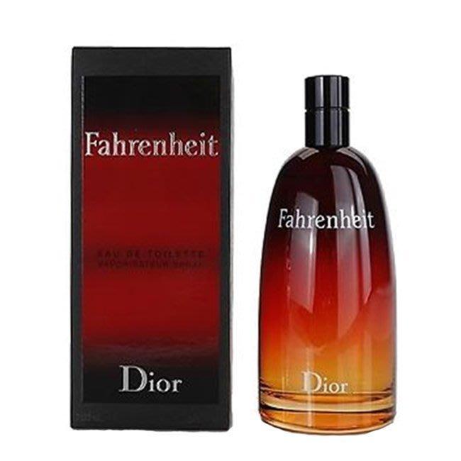 岡山戀香水~Christian Dior 迪奧 Fahrenheit 華氏溫度男性淡香水100ml~優惠價:2700元