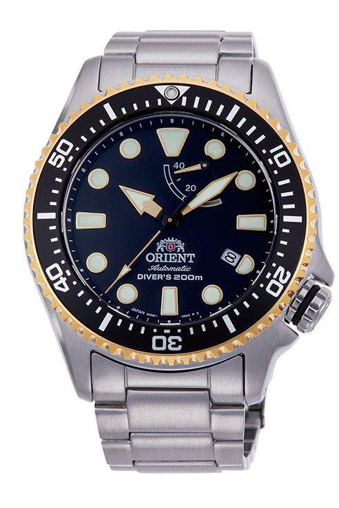ORIENT 東方錶 WATER RESISTANT系列 200m潛水錶 鋼帶款 黑水鬼 RA-EL0003B (免運)