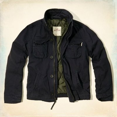 HOLLISTER 棉質立領外套 332-328-0378-023 全新正品 AF A&F HCO 海鷗