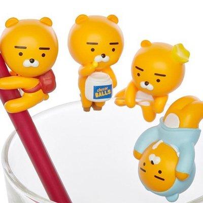 韓國代購 KAKAO FRIENDS 超鬧事 RYAN 杯緣子│裝飾小物│z8333