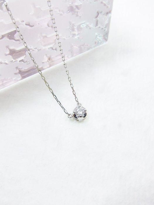 日本18K 單鑽鑽石項鍊【元圓珠寶】