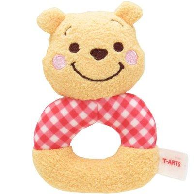 尼德斯Nydus 日本正版 迪士尼 小熊維尼 Pooh  嬰兒玩具 嬰兒用品 絨毛玩偶 手搖鈴鐺