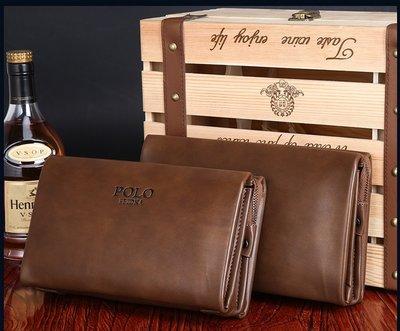 保羅男士手包大容量手拿包包商務手抓包皮包錢夾包手機包