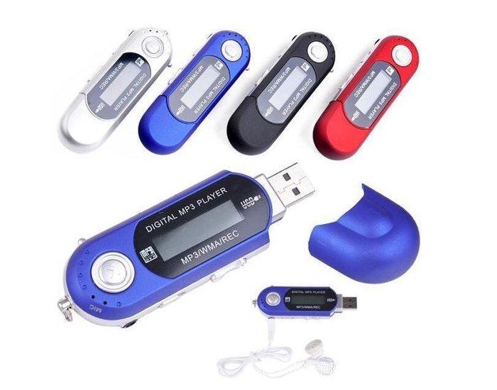 有屏mp3 u盤 插卡MP3 usb直插式播放器收音機 TF記憶卡支援32G #3694