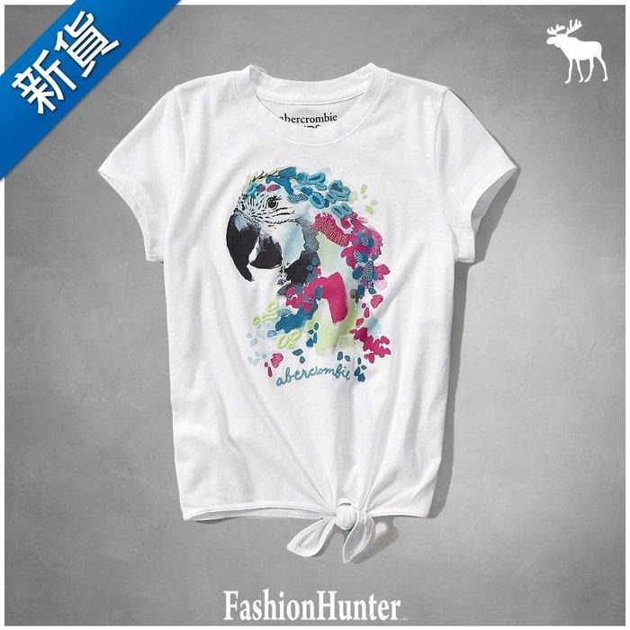 新貨【FH.cc】A&F Kids 短袖T恤 tie front tee 腰部綁帶裝飾設計 刺繡羽毛 HCO