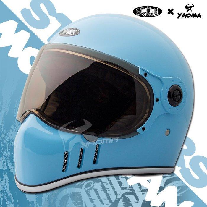 蒙古人安全帽 星戰鎖鏡 北卡藍 STARWARS 山車帽 全罩 哈雷重機 美式 雙D扣 耀瑪騎士機車部品