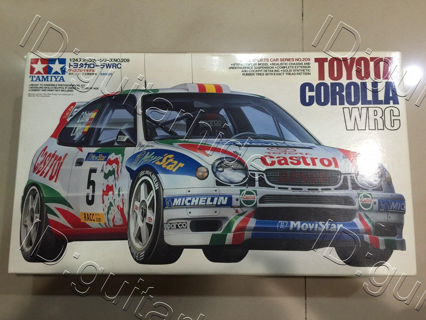 全新 田宮 TAMIYA 1/24豐田Toyota Corolla WRC