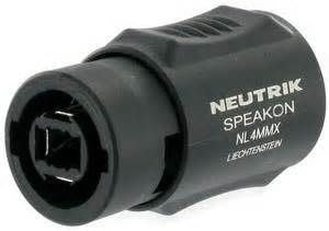 【六絃樂器】全新瑞士 Neutrik NL4MMX Speakon 喇叭線延長連接頭 / 舞台音響設備 專業PA器材