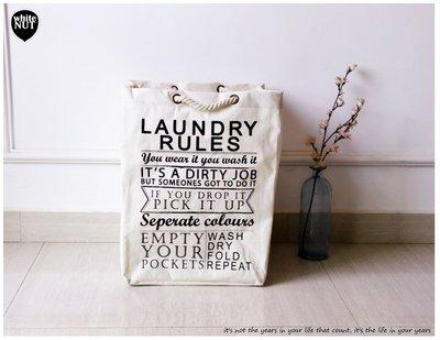 髒衣袋 ZAKKA 束口袋 LAUNDRY 束口洗衣袋  整理袋 麻布收納 收納袋 環保袋 髒衣整理 衣物整理