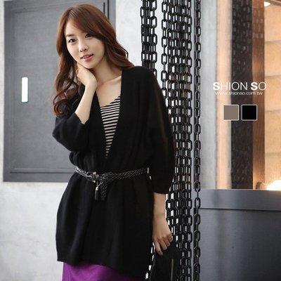 享瘦衣身大小尺碼【B3018】名媛風七分袖罩衫式毛絨外套