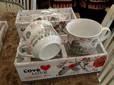 美生活館--全新 鄉村 ZAKKA 小咖啡杯組 -- 義大利 款--店面 入宅 贈禮 ---特 350 元
