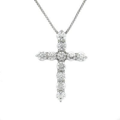 【JHT 金宏總珠寶/GIA鑽石專賣】5.15ct天然鑽石十字架項鍊/材質:墜PT900鍊PT850(JB44-A12)