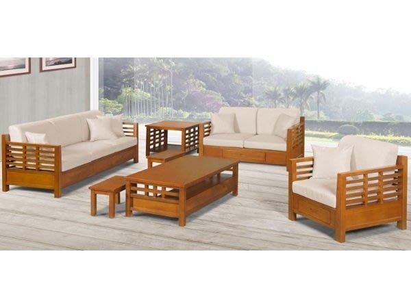 【DH】名稱 N161A名稱《林格》1+2+3人座柚木沙發組椅含椅墊(圖一)椅底有抽屜.可拆賣.茶几另計.主要地區免運費