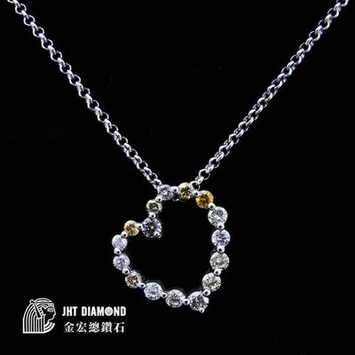 【JHT 金宏總珠寶/GIA鑽石專賣】限量特價日本商品 天然鑽石愛心項鍊 D-1.12ct (JB4-B18)*