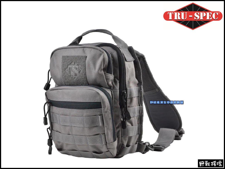 【野戰搖滾-生存遊戲】美國 TRU-SPEC 城市追跡者胸掛包【灰色】側背包單肩背包相機包戰術背包手槍包勤務包沙色