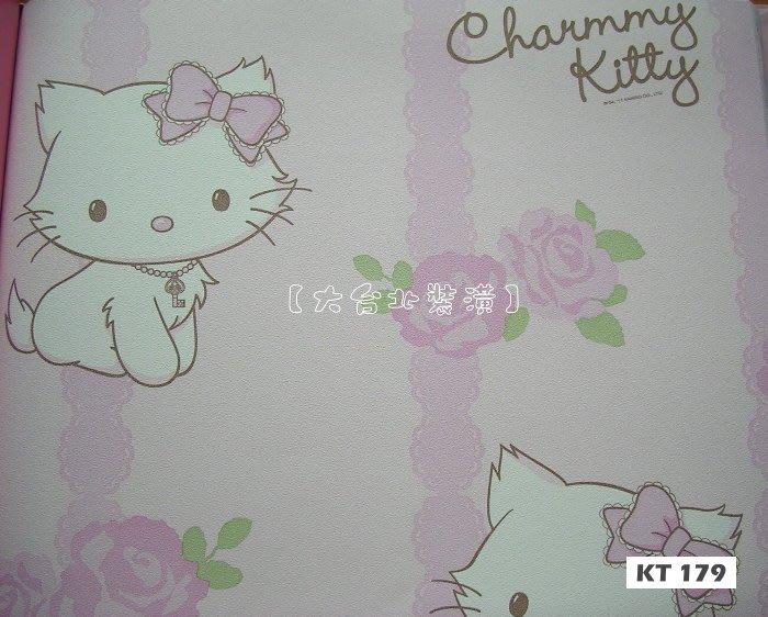 【大台北裝潢】Sanrio三麗鷗兒童壁紙* Charmmy Kitty蕾絲玫瑰花園  每支1000元
