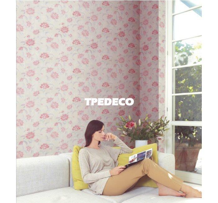 【大台北裝潢】OM國產現貨壁紙* 優雅粉色花朵 每支280元