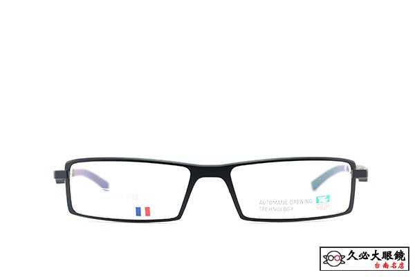 【台南名店久必大眼鏡】TAG Heuer 豪雅眼鏡 全程於法國產製運動流線輕盈保證原廠公司貨全面特價 TH0803(黑)
