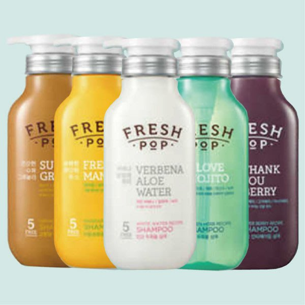 韓國 FRESH POP 果汁洗髮精&潤髮乳 500ml 多款可選【23494】