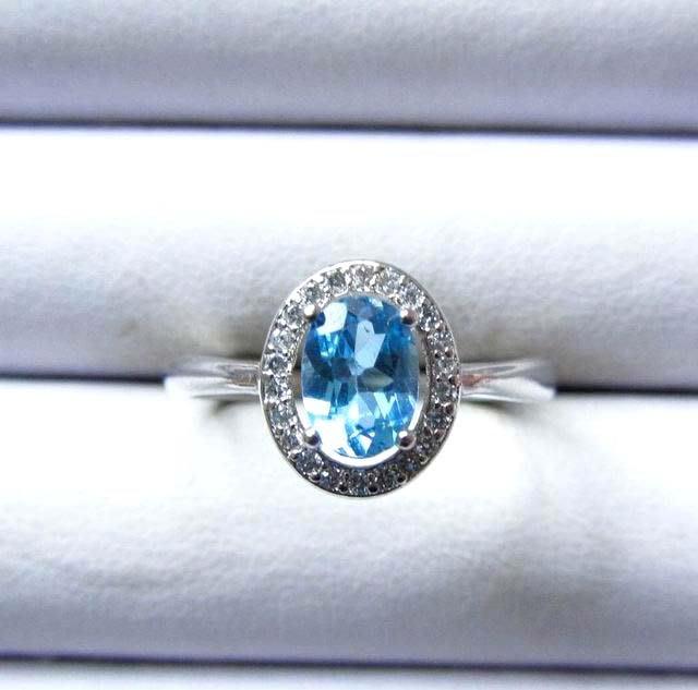 絕美瑞士藍*超閃亮*超好切工*極美AAA級戒指戒子活圍活口極美女戒指珠寶首飾彩色寶石首飾飾品寶石彩寶彩色寶石