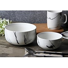 ~白色款~5寸碗~ 大理石紋陶瓷餐具 餐盤牛排沙拉盤米飯碗 麵碗 麵包盤早餐盤 ~司麥歐藝