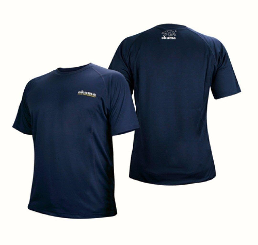 (桃園建利釣具)OKUMA 咖啡紗短袖吸濕排汗T恤 尺寸:M / L / XL / 3XL