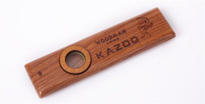 【六絃樂器】全新 Woodman Kazoo 紅木 卡祖笛 附2片笛膜 / 現貨特價