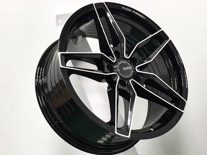 ╭☆輪鋪☆╯全新 (MAXX M08) 18吋5孔112 賓士 BENZ/福斯 VW/AUDI 黑車面 旋壓輕量化鋁圈