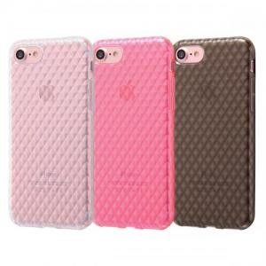 尼德斯Nydus 日本正版 格紋款 透明 玫瑰金 曜石黑 TPU 軟殼 手機殼 4.7吋 iPhone7