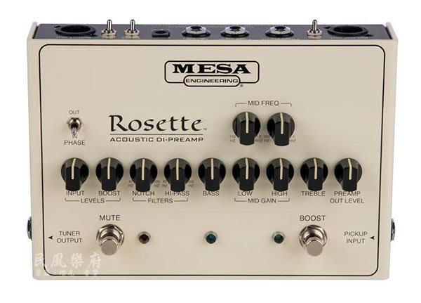 《民風樂府》Mesa/Boogie美國製 ROSETTE Acoustic DI-Preamp 木吉他DI-前級踏板