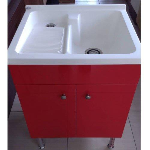浴室精品 推薦 @成舍衛浴@80公分人造石洗衣台+紅色雙門防水櫃 限量促銷8900元/組