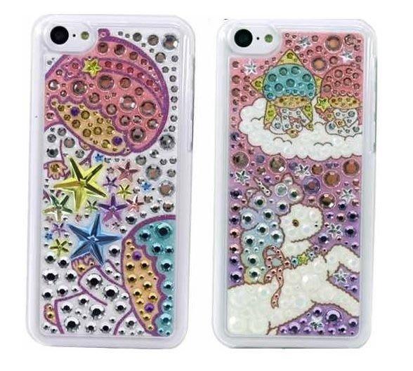 尼德斯Nydus~* 日本正版 雙子星 Kikilala 水鑽 保護殼 手機殼 iphone5C 5C 專用 三麗鷗授權 共2款