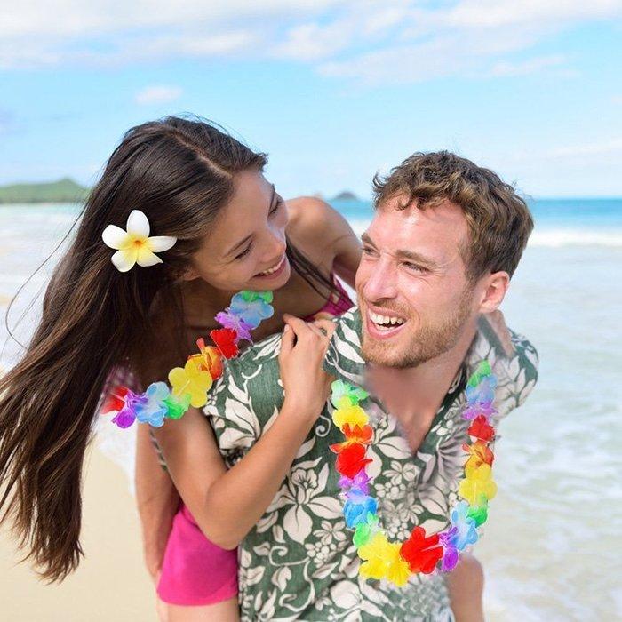 【洋洋小品草裙舞夏威夷花圈夏威夷花環】熱情夏威夷草裙舞/呼啦舞/大溪地舞/迎賓舞會表演小蘋果裝扮服