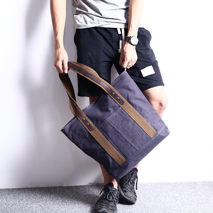 【米蘭箱包】帆布包男女時尚簡約文藝單肩包男士托特包大容量手提袋潮包1805ML174