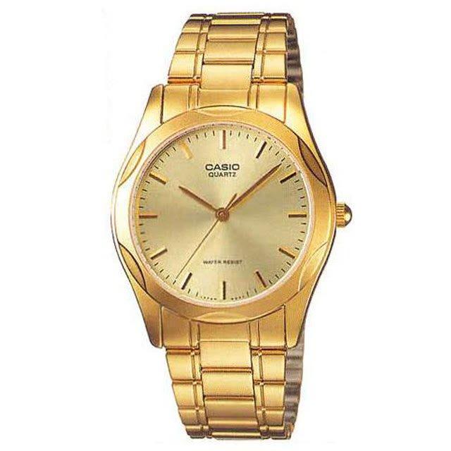 【CASIO】卡西歐 復古清晰防水金錶MTP-1275 MTP-1275G-9A 台灣卡西歐保固一年