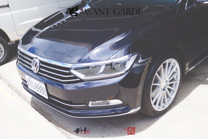 "Avant Garde AG M615 19"" 旋壓輕量化 放射多幅精緻鋁圈 VW Passat 實著 / 制動改"