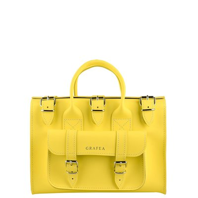 代購 英國 GRAFEA LUNA YELLOW Leather Shoulder Bag女真皮手提包、側背包