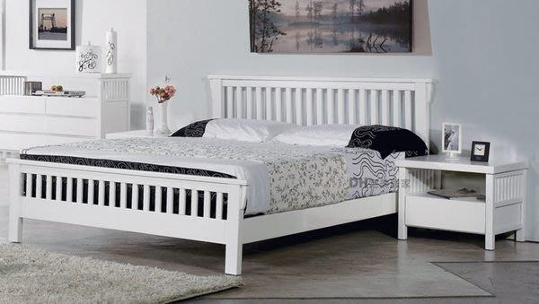 【DH】貨號DH033名稱《娜斯》3.5尺精製白色實木單人床架(圖一)實木床底.備有5尺.6尺可選