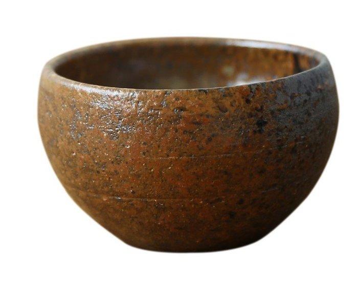 【傑儒書畫】手工粗陶茶杯 古樸禪意茶碗品杯 品茗陶瓷杯