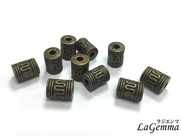 ☆寶峻☆特價$20元/10個~DIY素材 自由創作材料 隔珠 打造自我風格 仿古色 JF-301