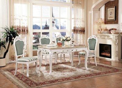 【大熊傢俱】T7026 玫瑰 新古典方餐台 餐桌  鄉村風 歐式餐台 方桌 功能型餐桌 餐椅 靠背椅