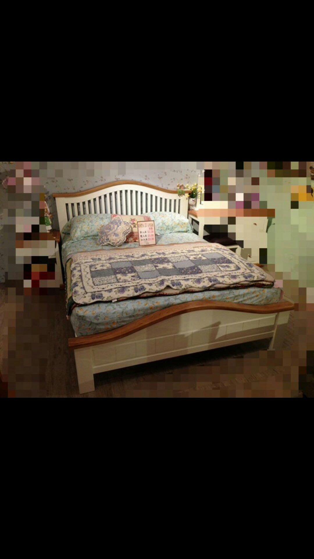 圓夏 艾莉 鄉村風 雙色 雙人床架