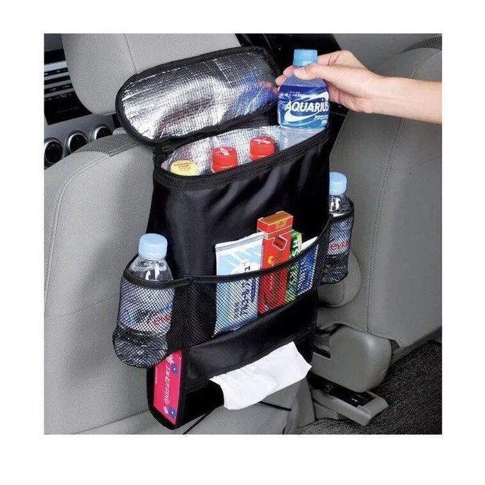 [R-CAR車坊]汽車椅背製物袋 多功能  車用保溫保冷 儲物袋 椅子掛袋 掛式