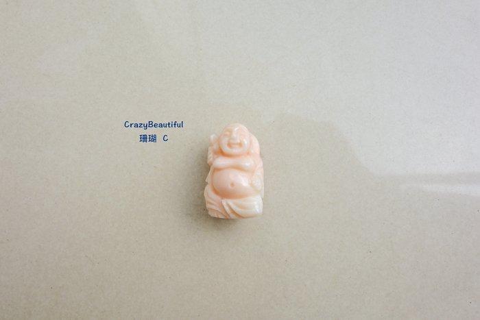 天然A貨-珊瑚-彌勒佛雕刻墜子-C