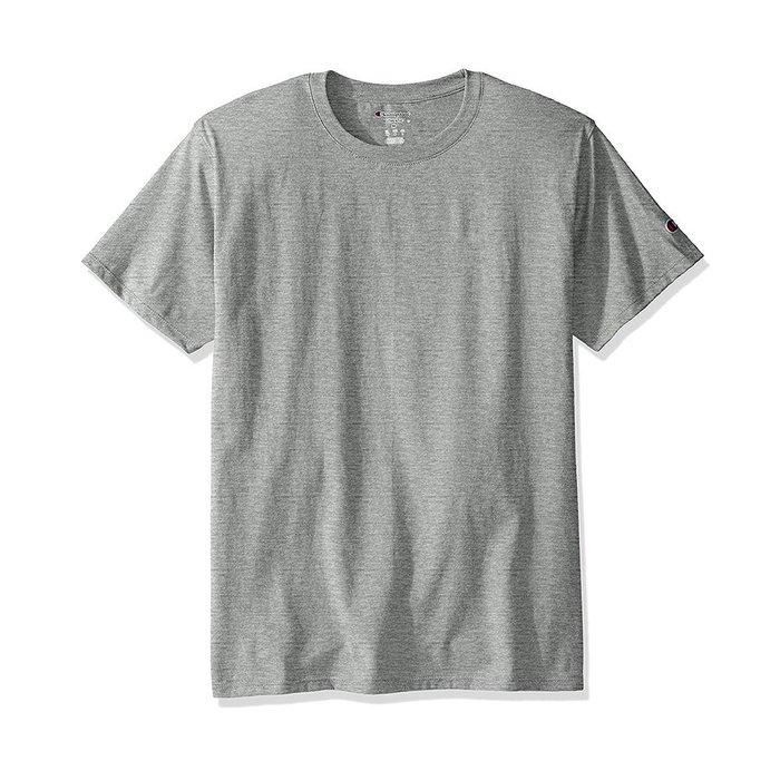 美國百分百【Champion】冠軍 T恤 短袖 T-shirt logo 素T 高磅數 灰 S-XL號 I203