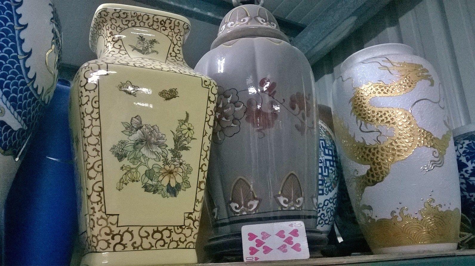 中華陶瓷風瓷瓶燈