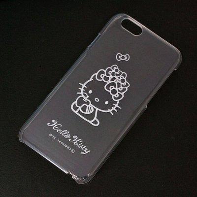 尼德斯Nydus~* 日本三麗鷗 Hello Kitty 透明系列 手機殼 保護殼 iPhone6 4.7吋 抱蘋果款